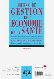 JOURNAL DE GESTION ET D4ECONOMIE DE LA SANTE